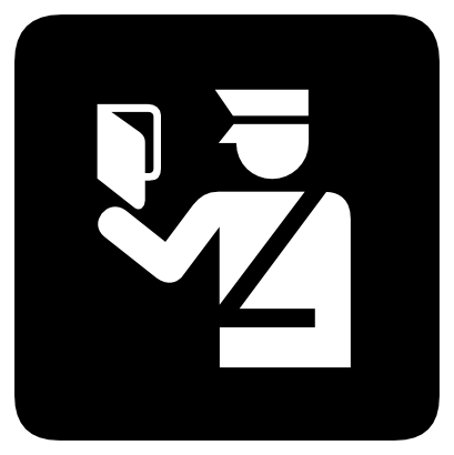 Download free paper paper control customs customs officer icon