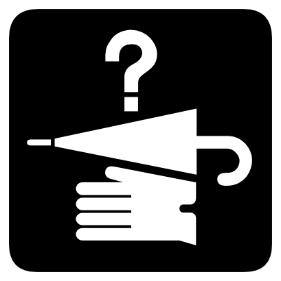 Download free dot hand interrogation glove umbrella icon