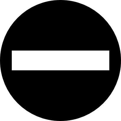 Download free black white direction prohibited icon
