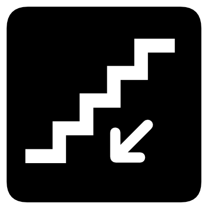 Download free arrow staircase icon