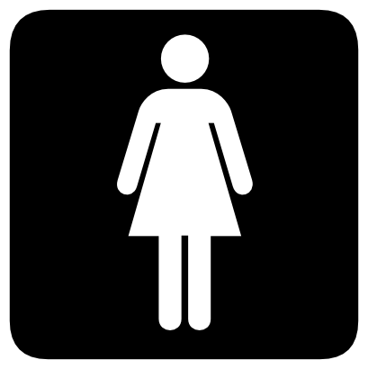 Download free woman toilet icon