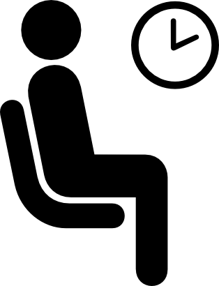 Download free clock hour seat person icon