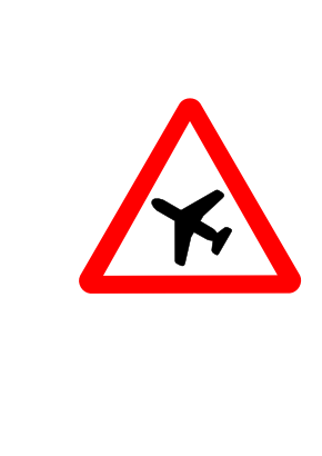 Download free triangle attention plane icon