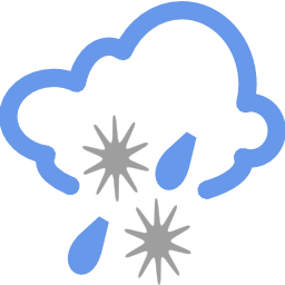 Download free weather cloud snow rain icon