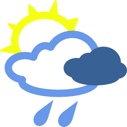 Download free sun weather cloud rain icon