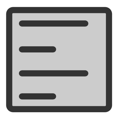 Download free text left align icon
