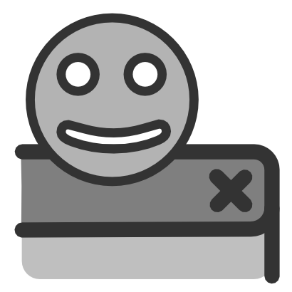 Download free cross smiley close icon