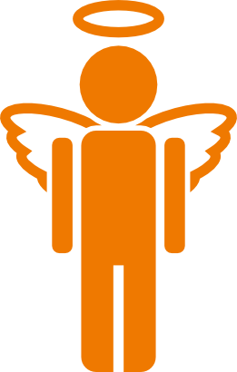 Download free orange angel person icon