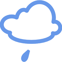Download free blue weather cloud rain icon