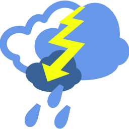 Download free weather cloud rain thunderbolt thunderstorm icon