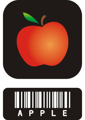 Download free apple food barcode icon