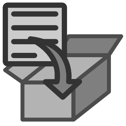Download free file box icon