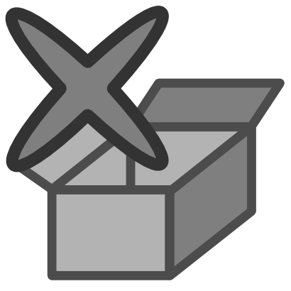 Download free grey cross delete box icon