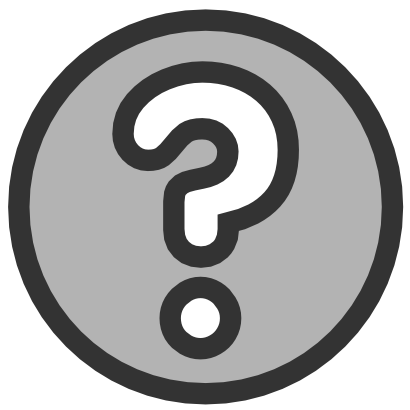 Download free grey dot help interrogation question icon