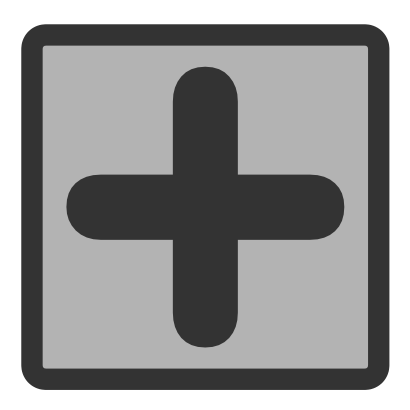 Download free grey cross square icon