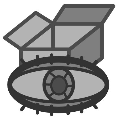 Download free grey eye box icon