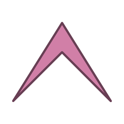 Download free arrow violet top icon