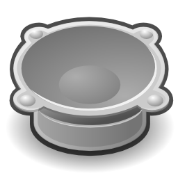Download free audio grey icon