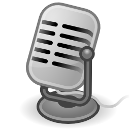 Download free grey micro sound microphone icon