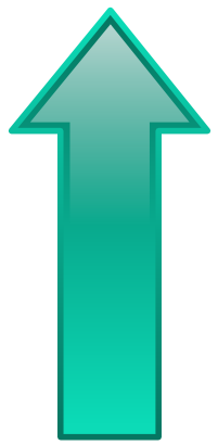 Download free arrow turquoise top icon