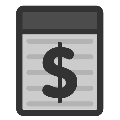 Download free grey dollar icon