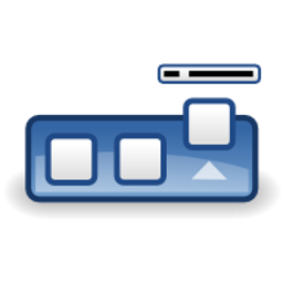 Download free blue navigator linux bar icon