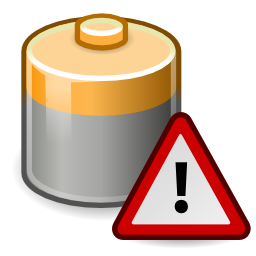 Download free battery pile loading alert triangle icon