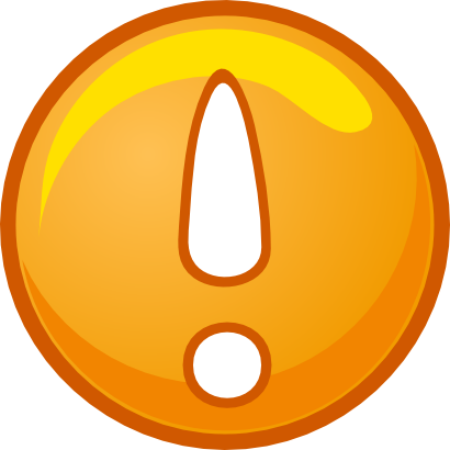 Download free orange round exclamation dot icon