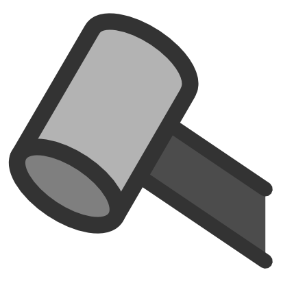 Download free grey hammer icon