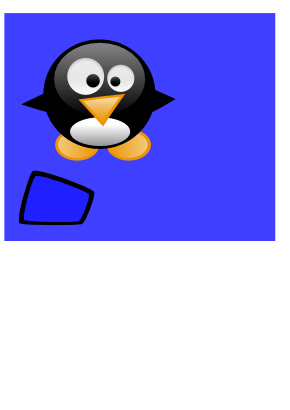 Download free blue square penguin icon