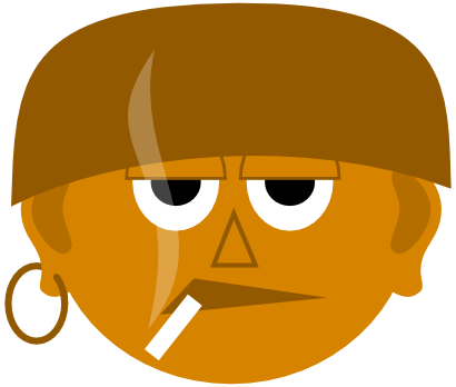 Download free ear face human cigarette icon