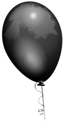 Download free black balloon icon