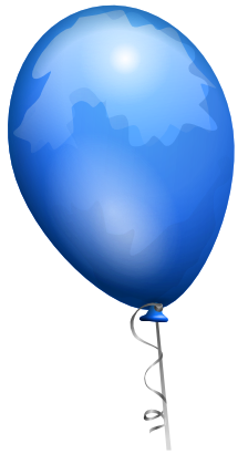 Download free blue balloon icon