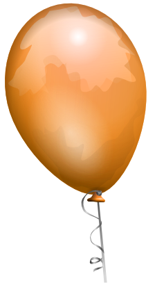 Download free orange balloon icon