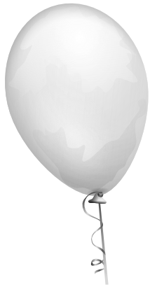 Download free balloon white icon