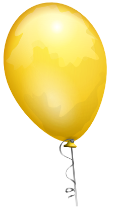 Download free yellow balloon icon