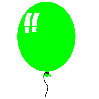 Download free green balloon icon