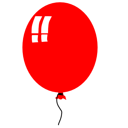 Download free red balloon icon