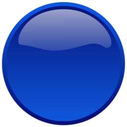 Download free blue round button icon
