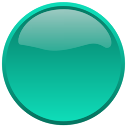 Download free round button turquoise icon