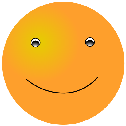 Download free orange face smiley smile icon