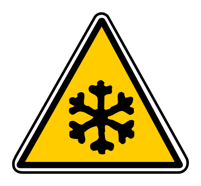 Download free snow triangle attention temperature cold icon