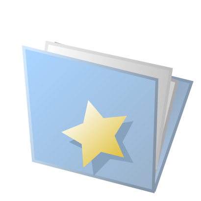 Download free yellow blue folder star icon