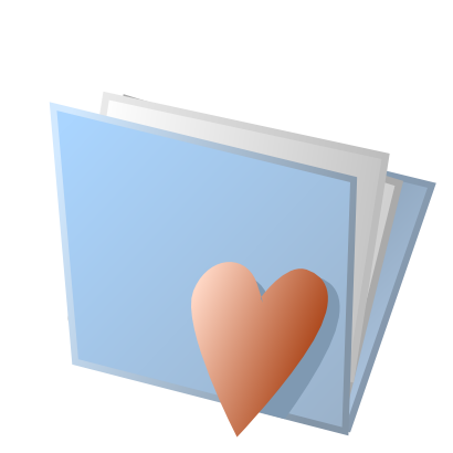Download free heart blue red folder icon