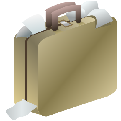 Download free paper suitcase icon