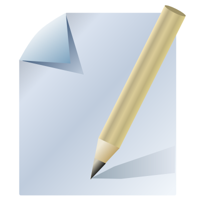 Download free pencil sheet paper icon
