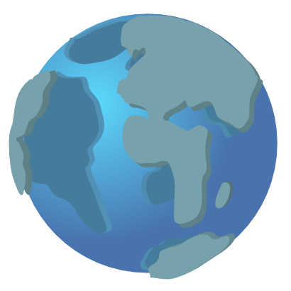 Download free earth blue continent icon