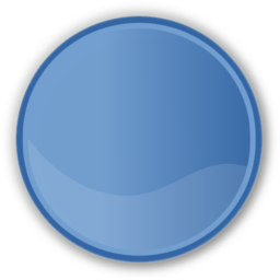 Download free blue round circle icon