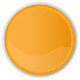 Download free orange round circle icon