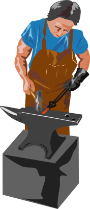 Download free tool human hammer anvil icon